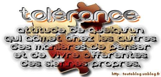 #toutoblog.unblog.fr aime la tolérance