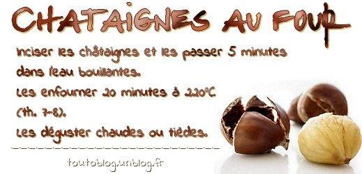 Châtaignes au four via #toutoblog.unblog.fr