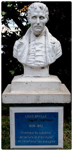 Statue de #LouisBraille via #toutoblog.unblog.fr