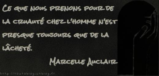 Citation #MarcelleAuclair via #toutoblog.unblog.fr